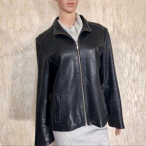 Michael Kors Genuine Leather Jacket Size L
